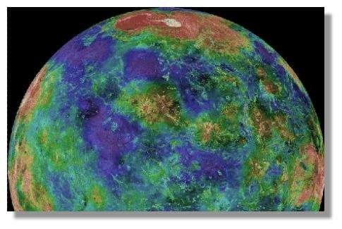 © Nasa - Relief de Vénus cartographié par la sonde Magellan