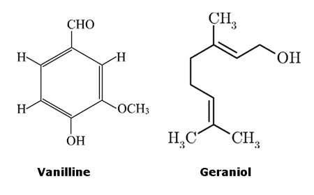 Vanilline et geraniol. © DR