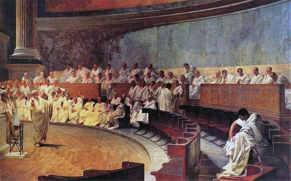 L'Édit de Caracalla donne l'accès aux privilèges. © Peinture de Cesare Maccari, Palazzo Madama, Wikimedia Commons, DP