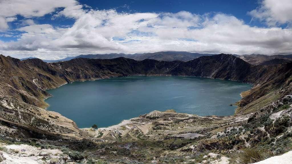 Le Quilotoa, l'un des nombreux volcans équatoriens