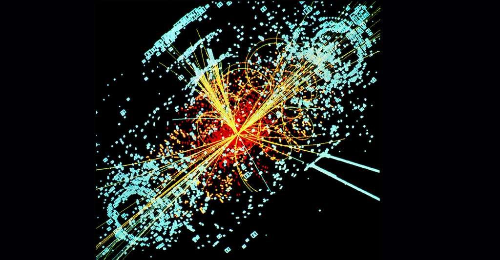 Simulation de la désintegration d'un boson de Higgs. © Lucas Taylor, Cern, Wikimedia Commons, CC 3.0