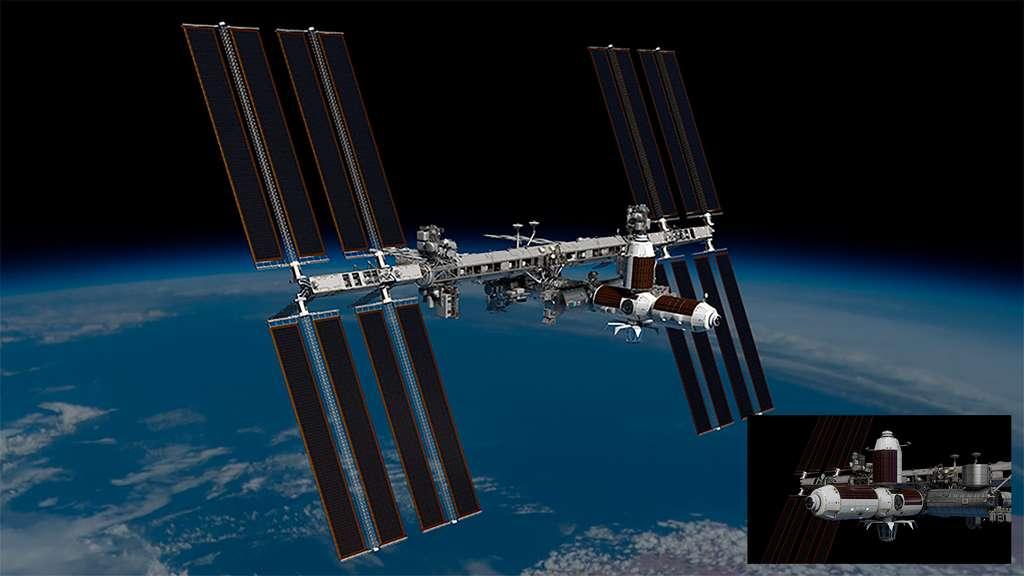 Le segment Axiom de la Station spatiale internationale qui pourrait compter jusqu'à six modules et une coupole d'observation de la Terre. Les deux premiers modules de ce segment, le nœud de jonction Node 1 (AxN1) et le module d'habitation (AxH), seront réalisés par Thales Alenia Space. © Axiom