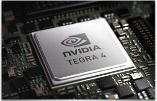 Le system on a chip (SoC) Tegra 4 de NVidia intègre quatre cœurs de calcul et 72 cœurs pour la partie graphique. © NVidia