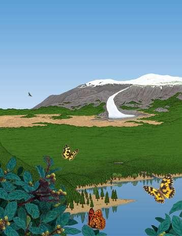 Reconstitution du paysage au Groenland il y a 450.000-800.000 ans. Crédit : Bent Jærdig Knudsen