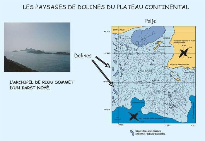 Figure 16. Dolines au large de Marseille. © J. Collina-Girard