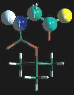 """""""Ordinateur"""" moléculaire RMN constitué de 5 qubits. © S.J.Glaser/U.T.Munich - Tous droits de reproduction interdit"""