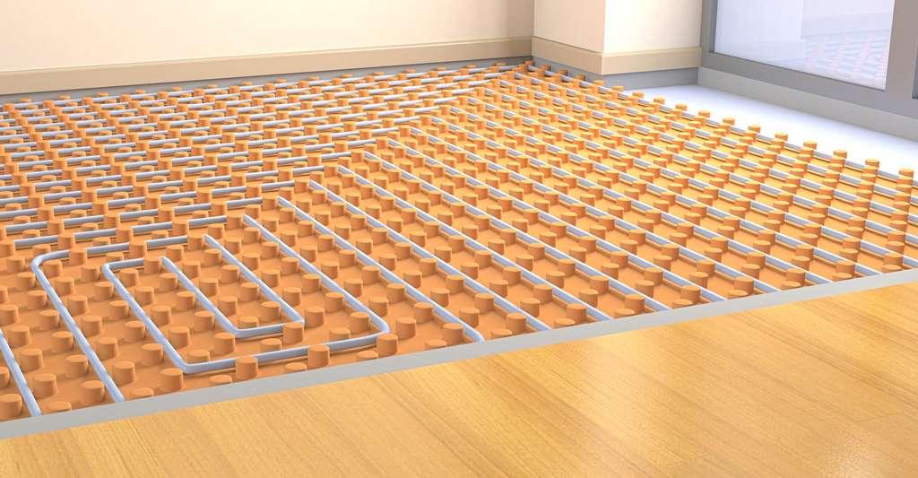 Mieux vaut disposer de planchers chauffants si l'on opte pour la pompe à chaleur sol-sol. Ici, du parquet chauffant. © Lucadp, Shutterstock