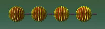 Nanopolymère formé par association de nanoparticules. Crédit :Science