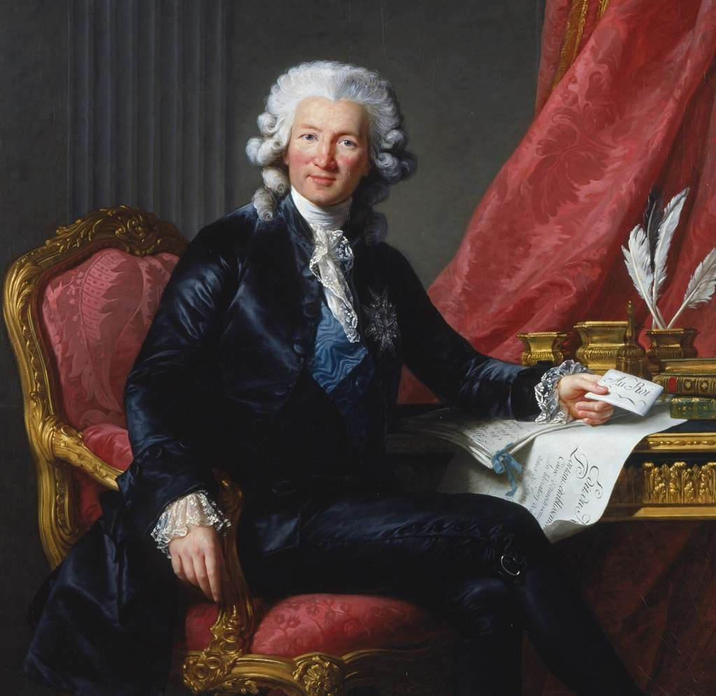 Charles-Alexandre de Calonne par Louise-Elisabeth Vigée Le Brun, en 1784. Collection royale de la Couronne d'Angleterre, Londres. © Royal Collection Trust, Wikimedia Commons, domaine public
