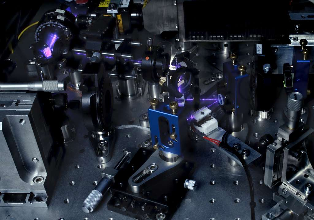 L'expérience qui a permis aux physiciens d'éliminer l'un des défauts des tests des inégalités de Bell. Elle a été menée par une équipe internationale de chercheurs américains et européens. © IQOQI Wien, Jacqueline Godany, 2012