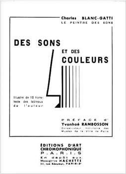 Couverture du livre de Charles Blanc-Gatti publié en 1934 : Des sons et des couleurs. © Collection B. Valeur