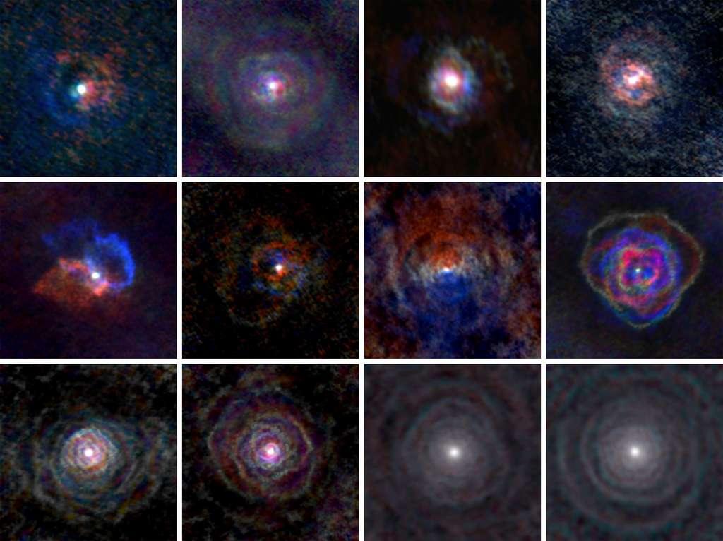 Ils devraient être sphériques, comme les étoiles mères dont ils sont arrachés, or les chercheurs ont découverts que les vents stellaires arborent tous des formes différentes, et ne sont jamais sphériques. L'interaction binaire est la clé qui façonne les morphologies des nébuleuses planétaires. © L. Decin, ESO, Alma