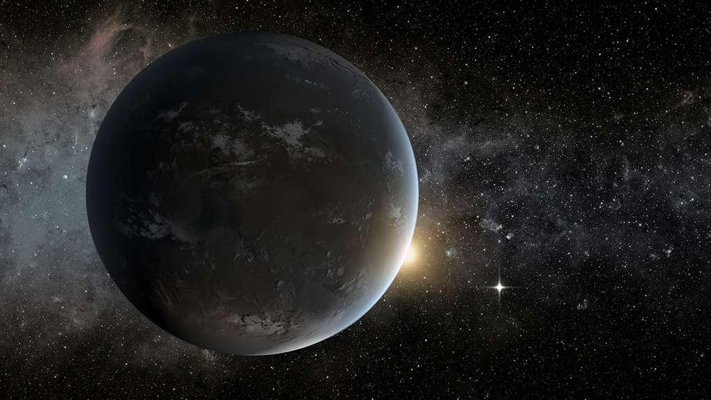 Alors que Proxima Centauri b – sur cette vue d'artiste – présente une masse d'environ 1,27 fois celle de la Terre, sa sœur, Proxima Centauri c, semble sept fois plus massive. © Nasa