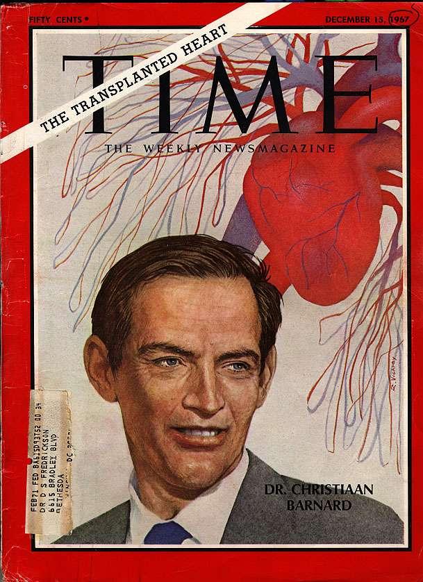 1967 : première transplantation cardiaque par Barnard
