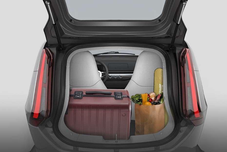Le coffre de l'Eli Zero peut contenir 160 litres. © Eli Electric Vehicles