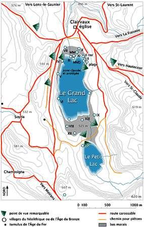 Carte du lac de Clairvaux. © DR