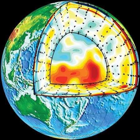 Tomographie sismique du manteau terrestre. © GEOSCOPE. Département de Sismologie (CNRS-IPGP)