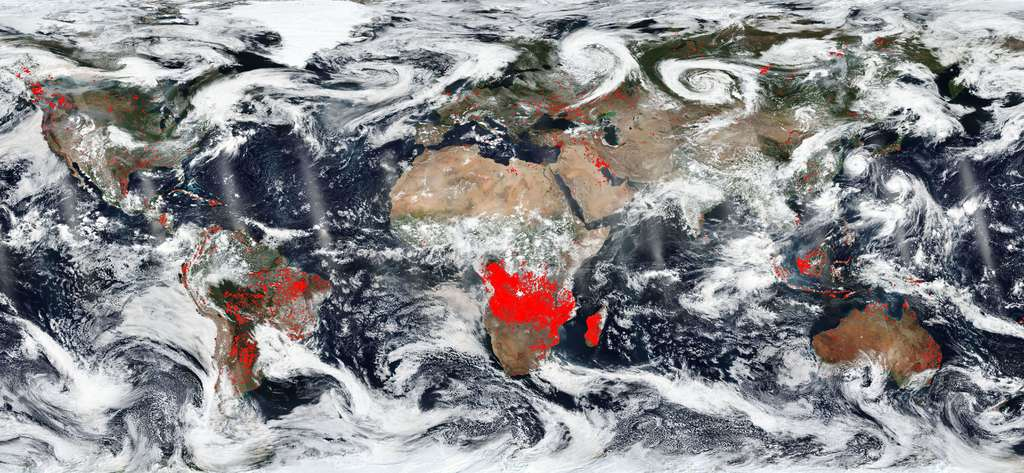 La mission Worldview montre les incendies dans le monde en temps réel. © Nasa, EOSDIS