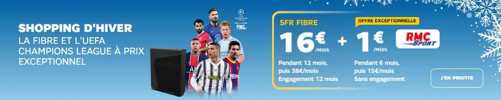 La fibre en promo avec RMC Sport à 1 €/mois © SFR