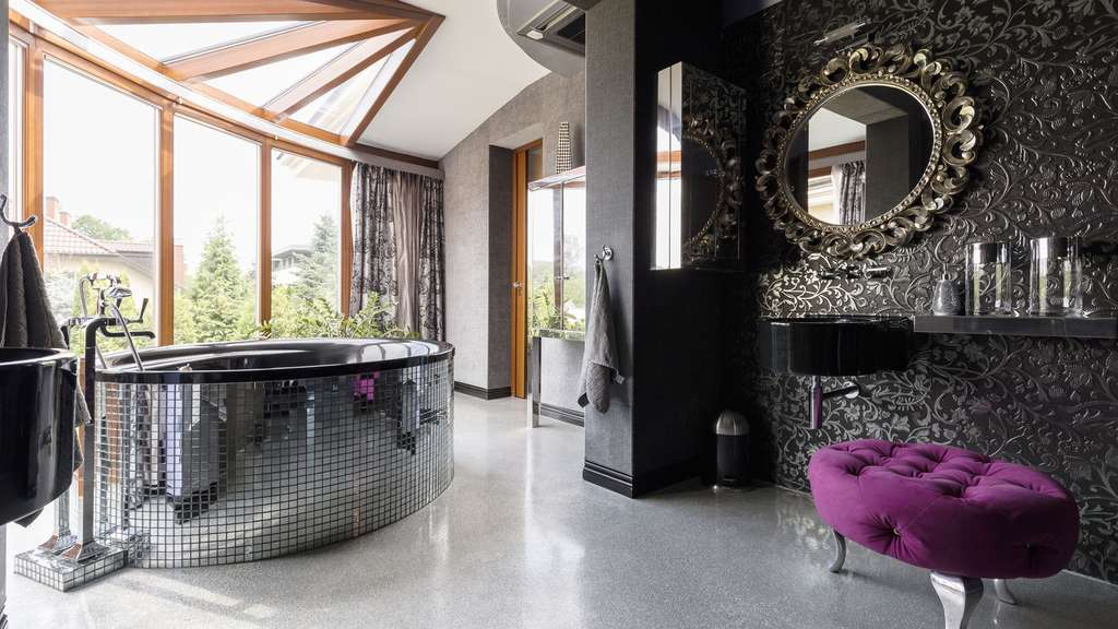 Une salle de bain ambiance chic