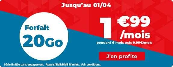 Forfait 20Go à prix bradé © Auchan Télécom