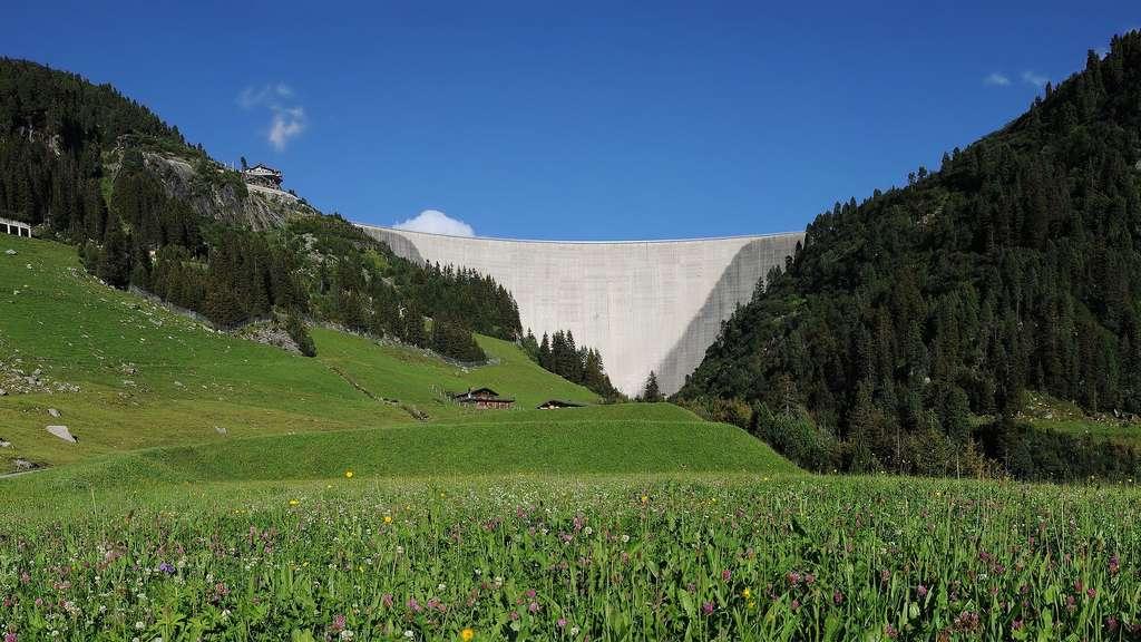 Le Zillergründl, l'un des plus grands barrages d'Autriche