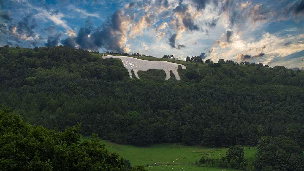Le Cheval blanc de Kilburn en Angleterre
