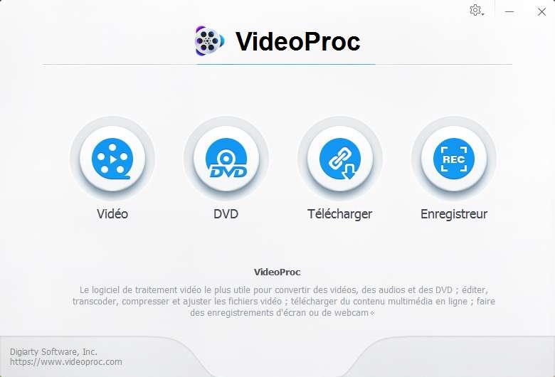 Pour Mac ou pour Windows, VideoProc est l'un des meilleurs logiciels de traitement vidéo 4K. © VidéoProc