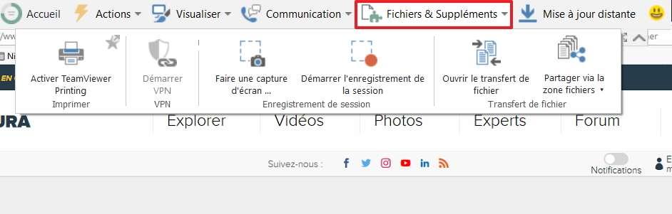 TeamViewer offre la possibilité de faire des captures d'écran de l'ordinateur distant. © TeamViewer GmbH