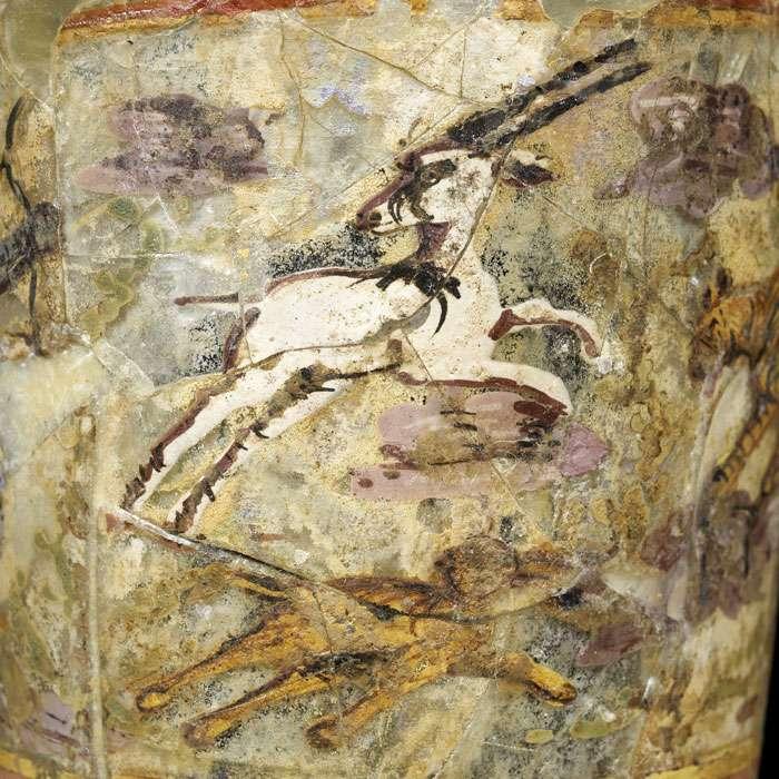 Grand gobelet à décor peint, du site archéologique de Begram