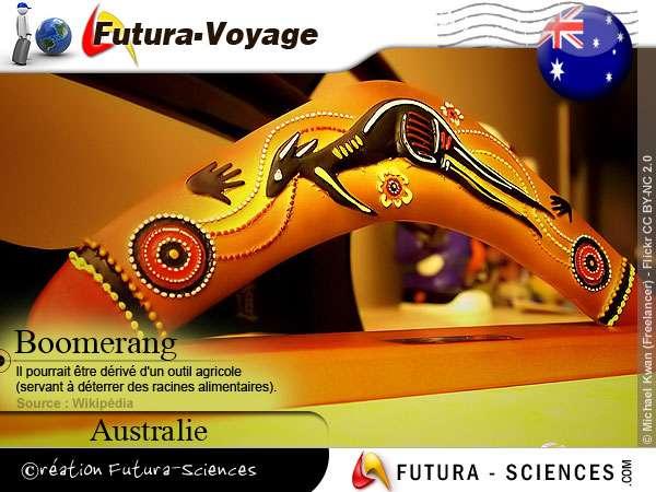 Boomerang utilisé par le peuple Aborigène