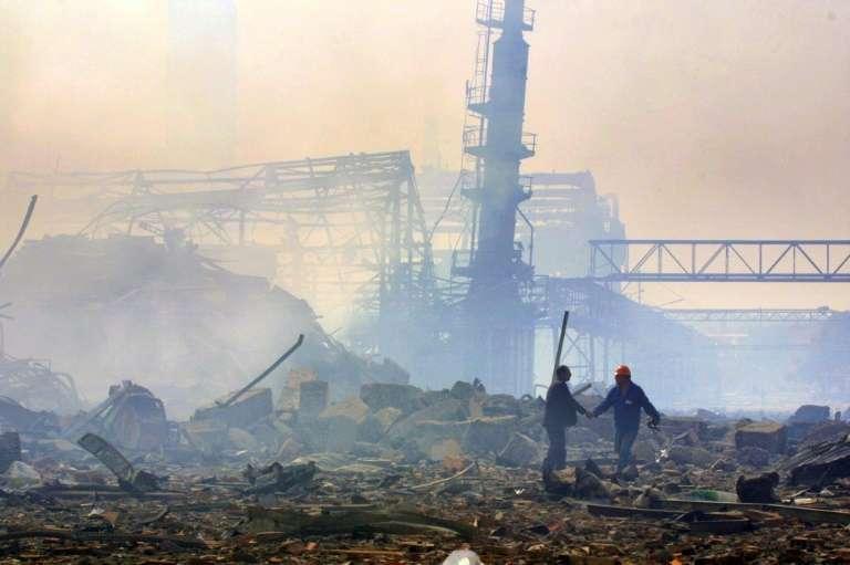 Explosion de l'usine AZF à Toulouse, le 21 septembre 2001. © Pascal Pavani, AFP Archives