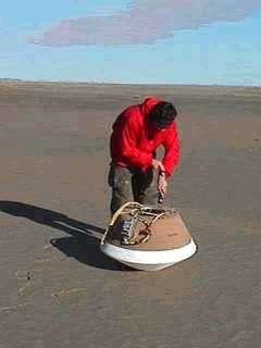 Test de la SRC - Vérification de la capsule après atterrissage