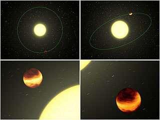 exoplanètes en infra-rouge, vue d'artiste. © NASA/JPL-Caltech/R. Hurt (SSC)