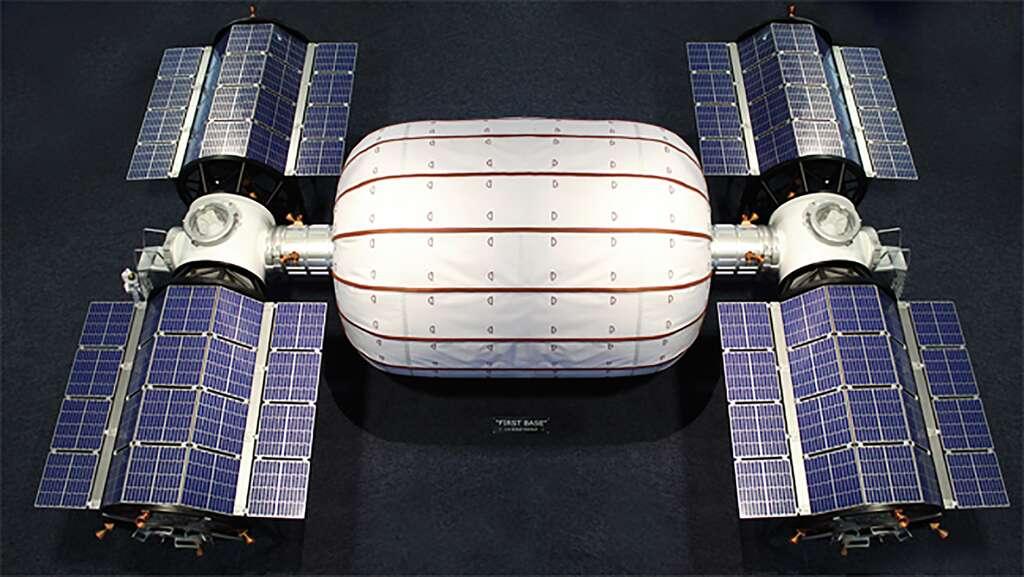 Un concept d'habitat lunaire réalisé avec des structures gonflables proposé par Bigelow Aerospace à la Nasa. © Bigelow Aerospace