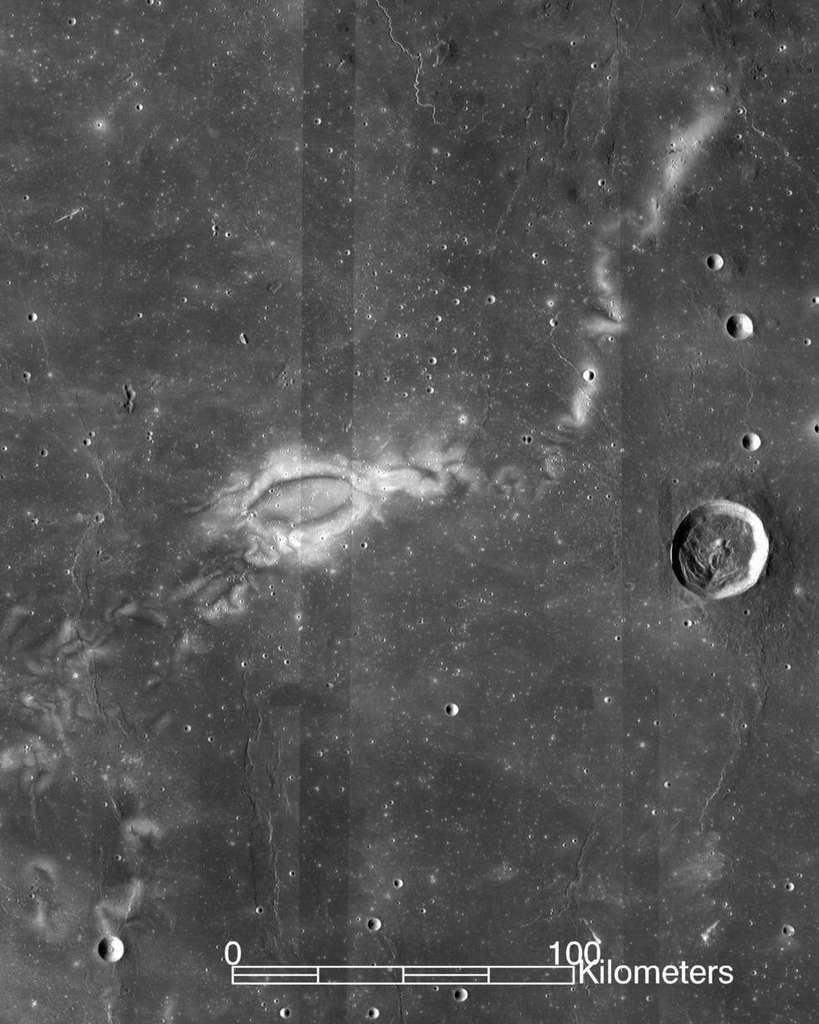 Une vue de Reiner Gamma prise par la sonde LRO. © Nasa, LRO, WAC science team