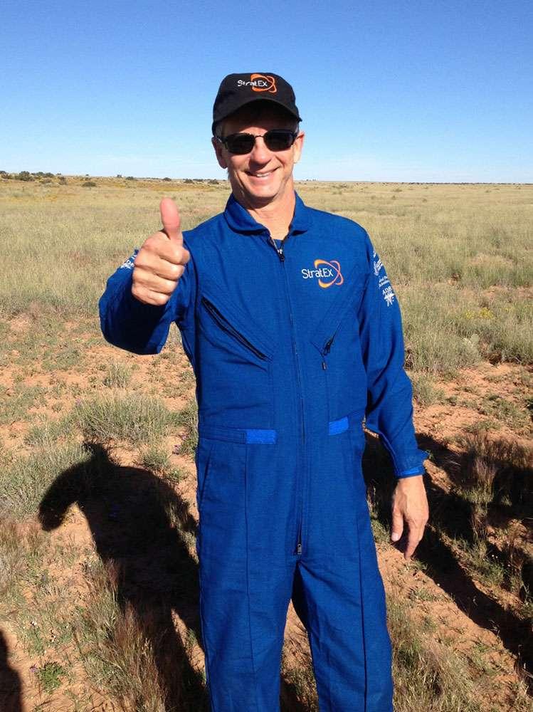 Alan Eustace vient de réussir un exploit en décrochant le record du monde du saut en altitude avec 41 km. © Paragon Space Development Corporation