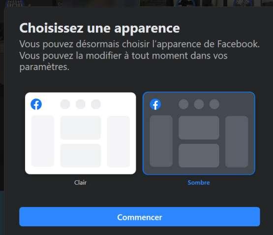Un mode sombre est désormais disponible pour la version « desktop » de Facebook. © Futura, Facebook