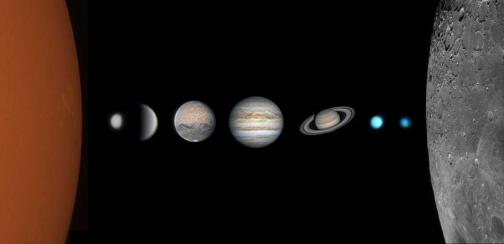Ici, le Soleil, la Lune et sept des planètes du Système solaire pour le prix du meilleur jeune astrophotographe. © 至璞 王, Astronomy Photagrapher of the Year 2021