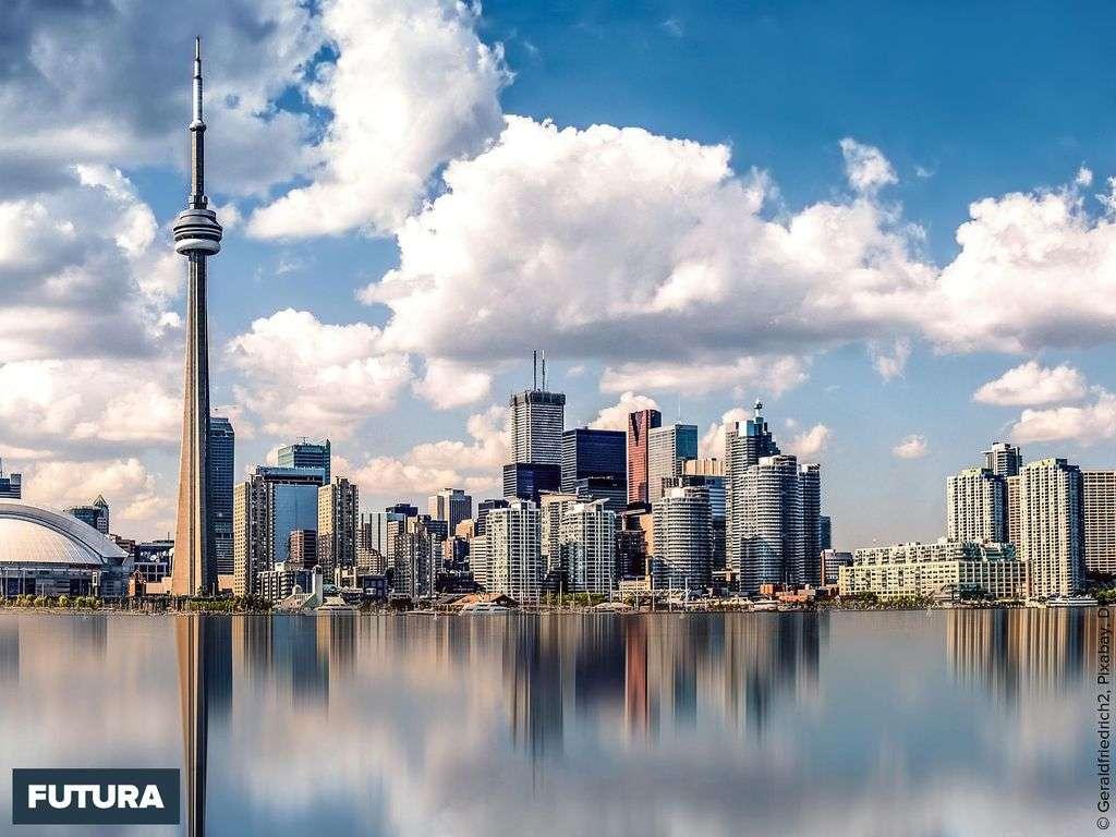Toronto et la Tour CN l'une des plus hautes du monde 553 m antenne comprise