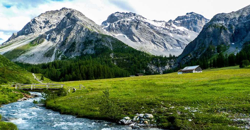 Paysage de montagne à Davos, en Suisse. © Robert J. Heath, CC by-nc 2.0