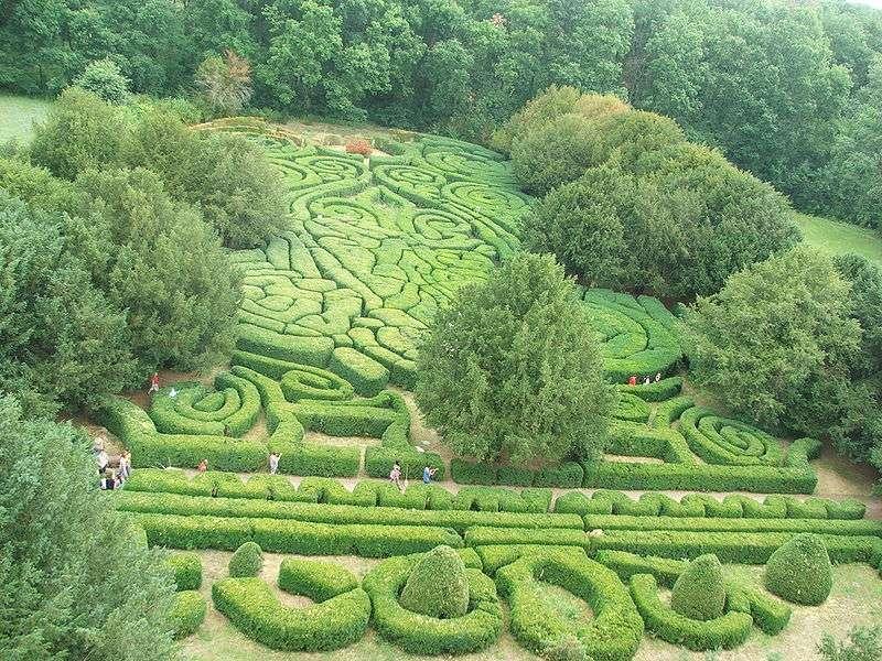 Le jardin du château Andrássy, à Tiszadob, en Hongrie