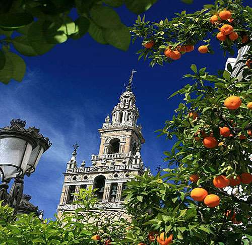 La tour Giralda, à Seville, en Espagne, est un monument incontournable de la ville. © Jialigna Gao, CC by-sa 2.5