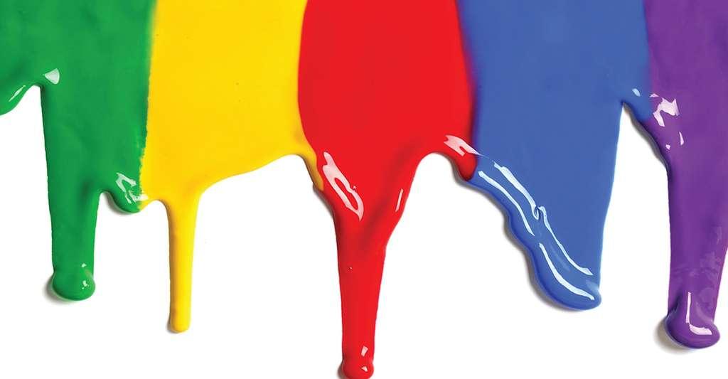 Peintures formant des gouttes arrêtées . © Philippe Coussot , DR