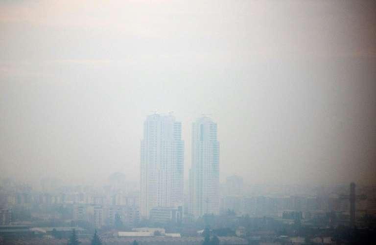 Skopje, l'une des villes les polluées d'Europe. © Robert Atanasovski, AFP/Archives