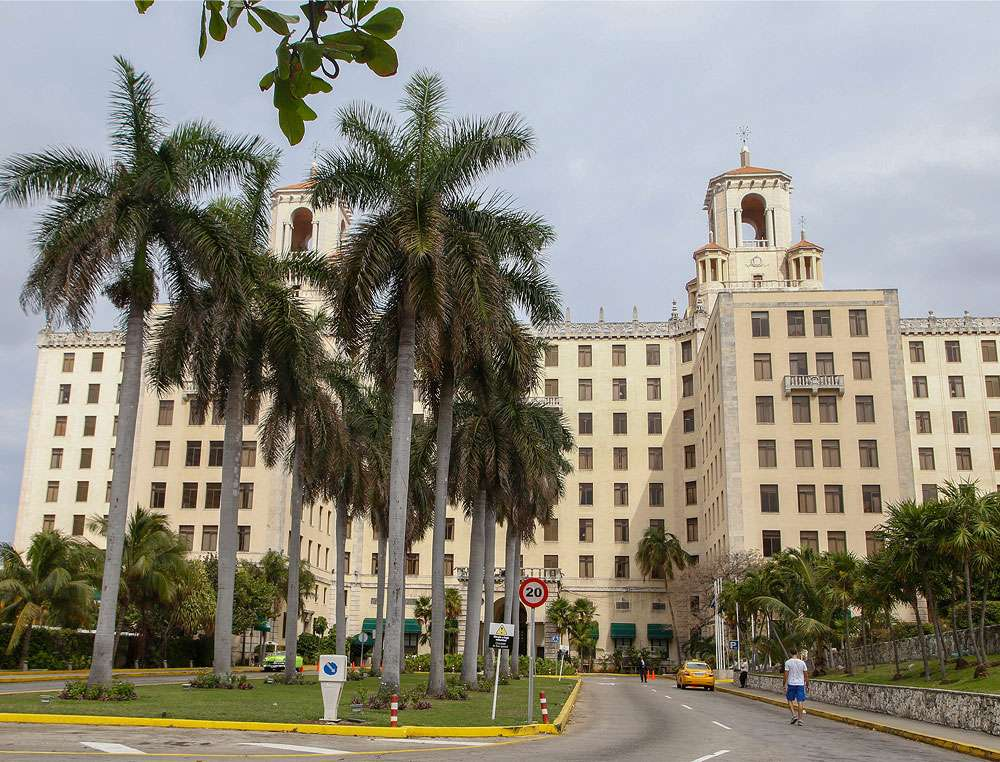 Vue sur l'arrivée de l'hôtel Nacional, La Havane. © Antoine, DR