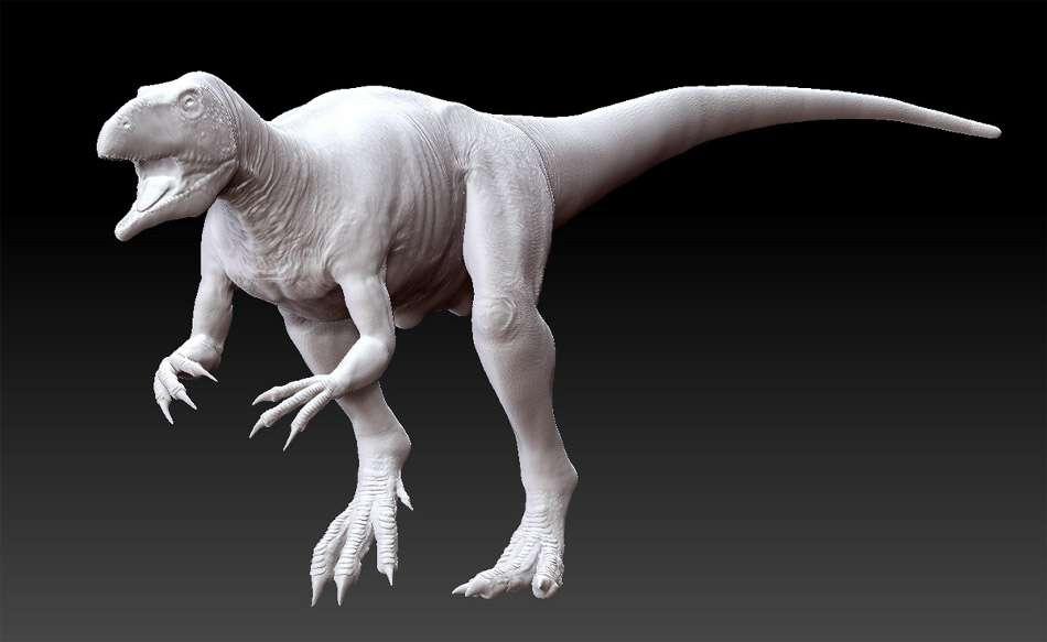 Le dinosaure est modélisé. © Michel Fontaine