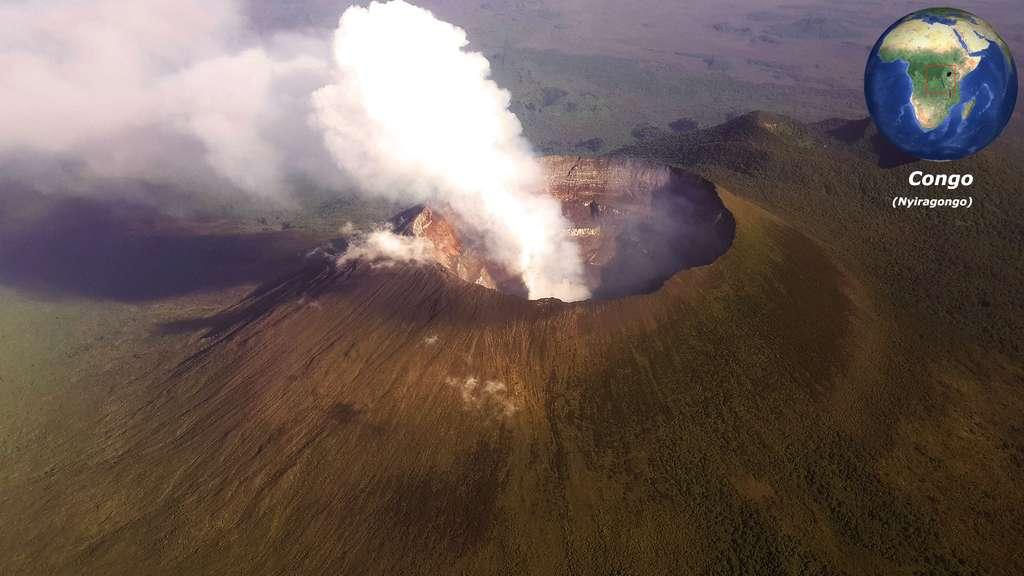 Le Nyiragongo, un stratovolcan congolais