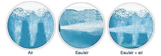 Les différentes technologies possibles pour les baignoires balnéo. © sanimat.com