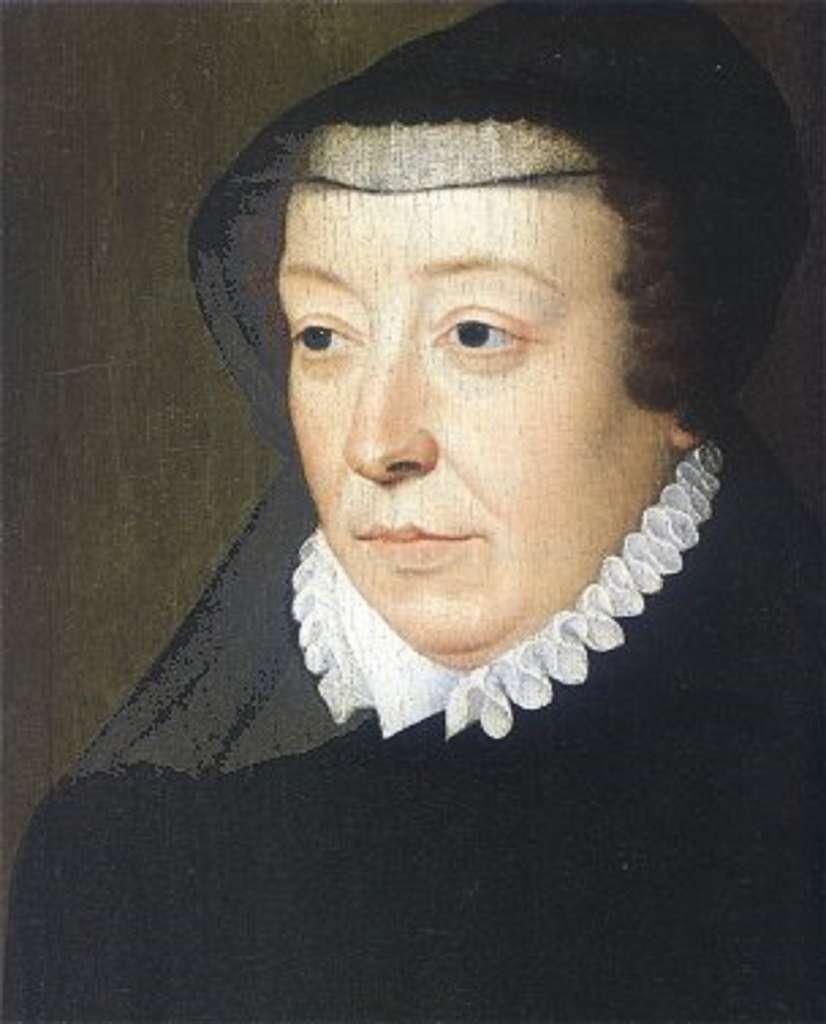 Portrait de la régente, Catherine de Médicis, daté de 1560, par François Clouet. Musée Carnavalet, Paris. © Domaine public.